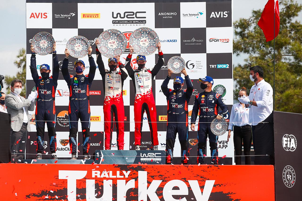 WRC 第5戦:トヨタのエバンスが今季2勝目でドライバー選手権首位に浮上