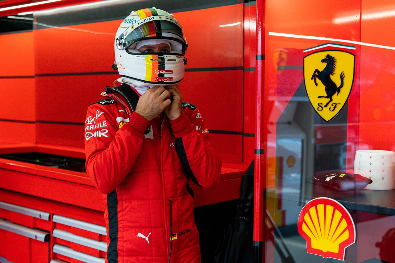 セバスチャン・ベッテル、ポイントに届かず 「タイヤに苦労していた」 / フェラーリ F1アイフェルGP 決勝