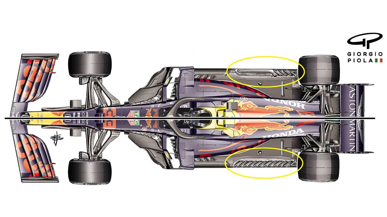 レッドブル・ホンダ RB16 新型フロア