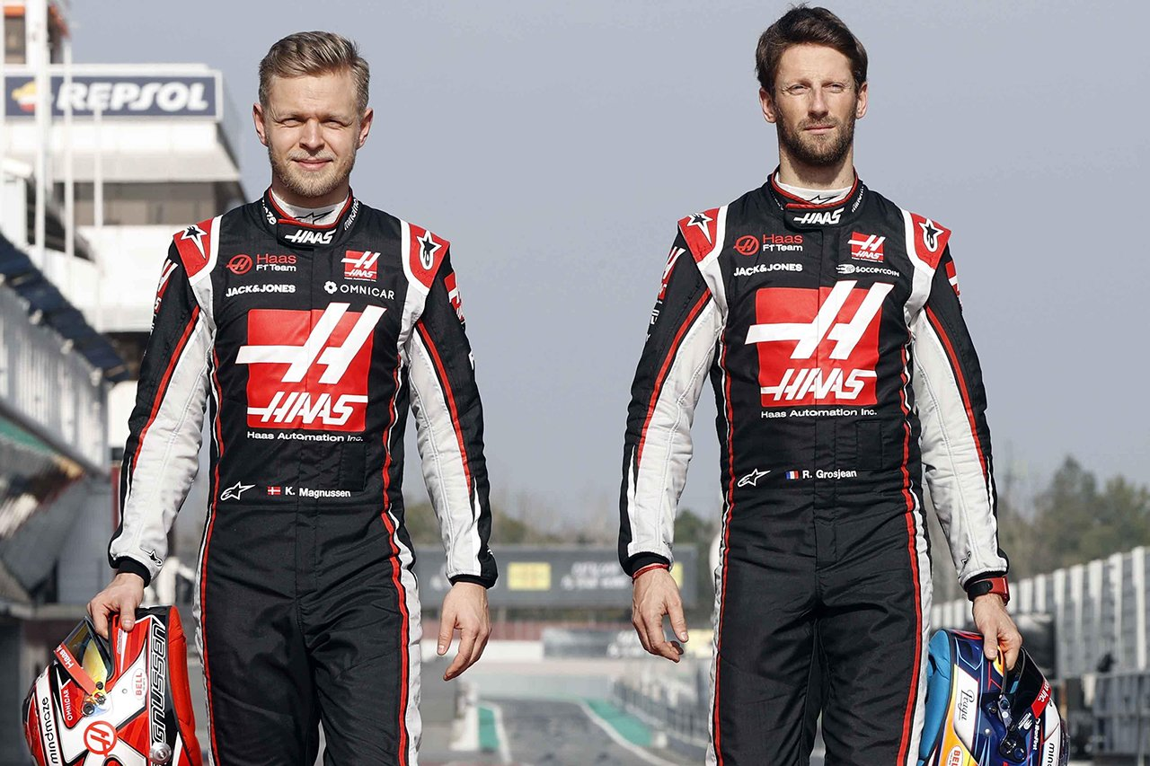 ハースF1、グロージャンとマグヌッセンの今季限りでの離脱を正式発表…2021年はラインナップを一新