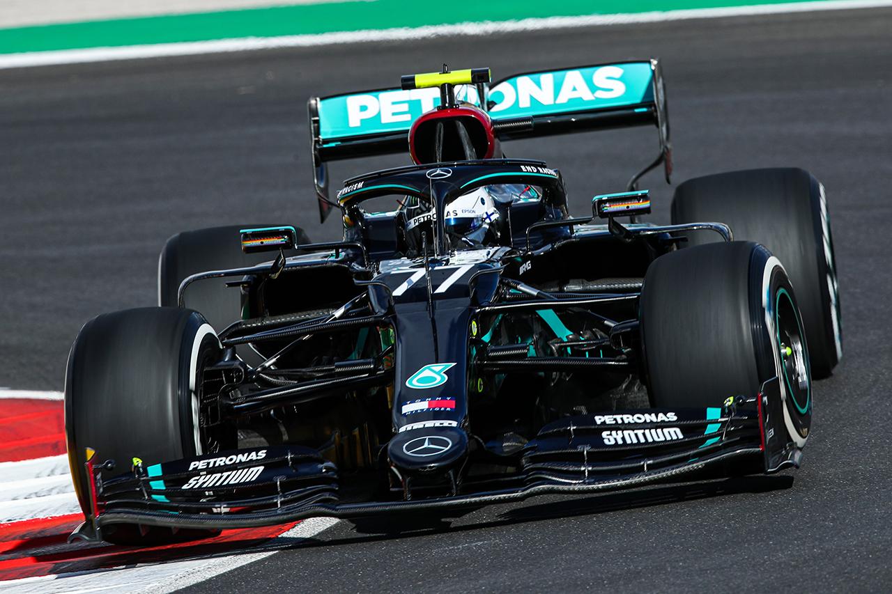 F1ポルトガルGP フリー走行1回目:ボッタス首位でメルセデスがワンツー。ホンダF1勢はフェルスタッペンが3番手