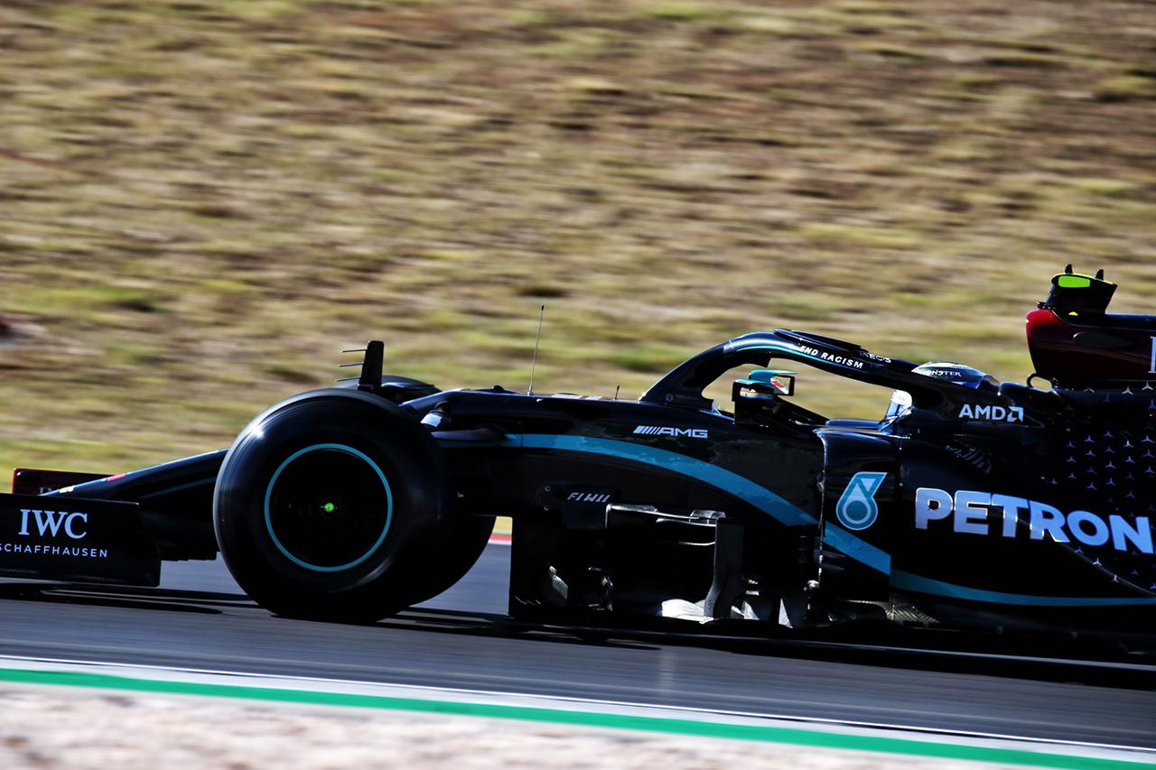 F1ポルトガルGP フリー走行3回目:ボッタス首位でメルセデスがワンツー。フェルスタッペンが0.158秒差の3番手