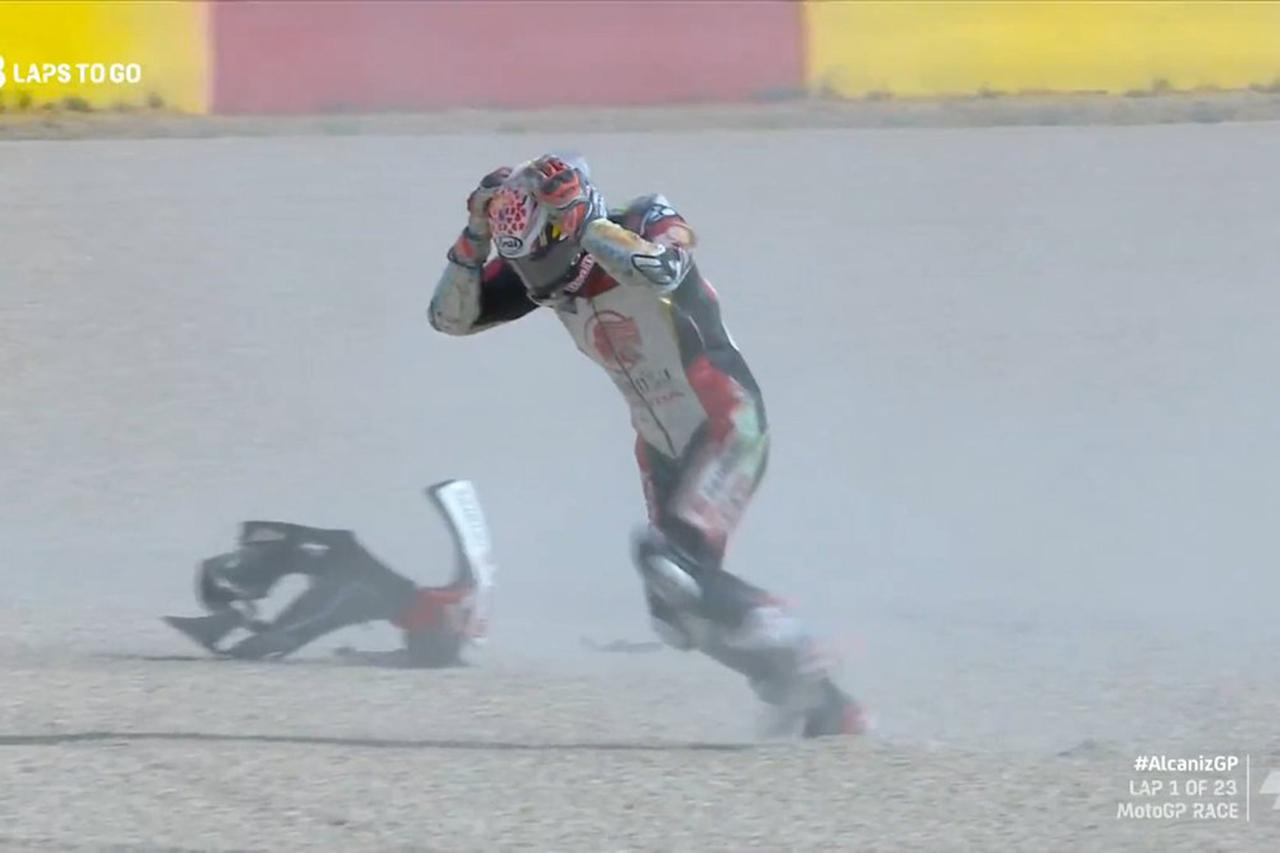 MotoGP:中上貴晶、無念の単独転倒で0周リタイア / テルエルGP