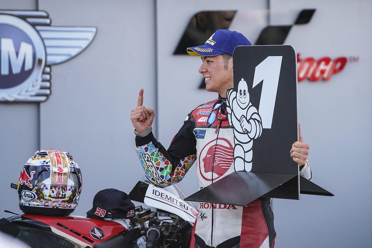 中上貴晶、MotoGP初ポールポジション「最高の気分。誇りに思う」 / テルエルGP 予選