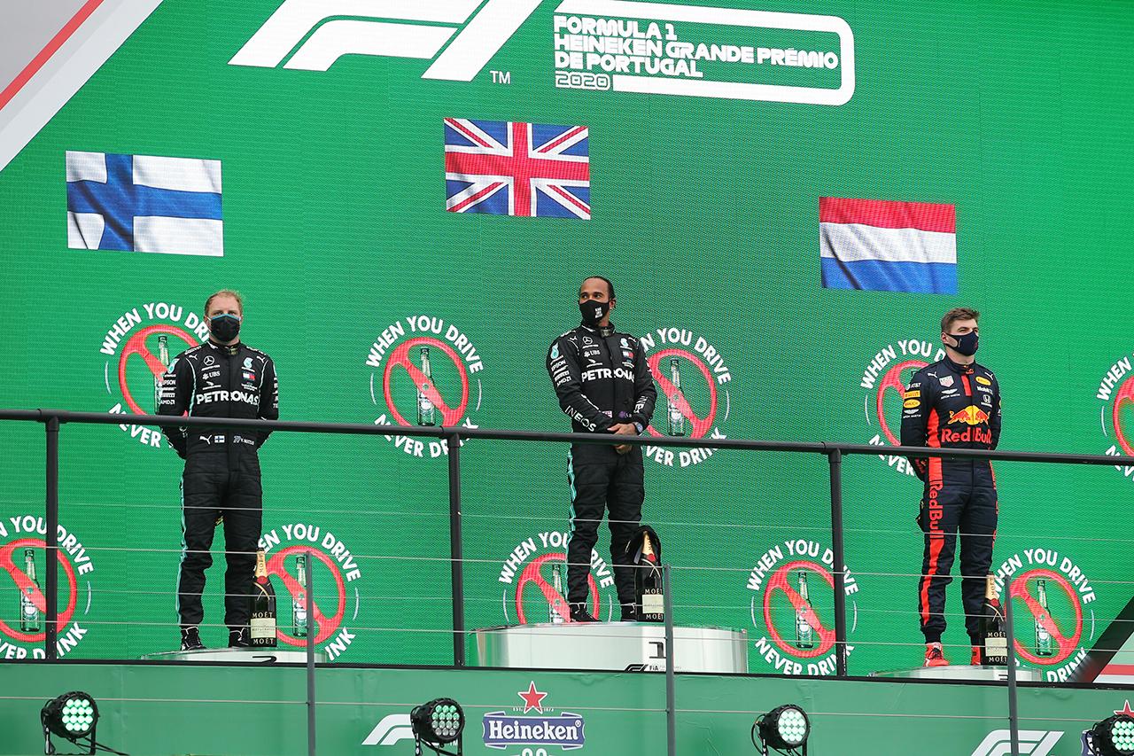 2020年 F1ポイントランキング(第12戦 F1ポルトガルGP終了時点)