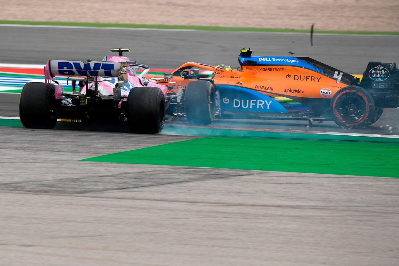 ランド・ノリス、接触のランス・ストロールを批判 「彼は何も学ばない」 / F1ポルトガルGP 決勝