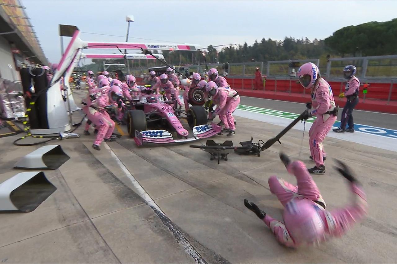 【動画】 ランス・ストロール、ピットストップでメカニックを吹っ飛ばす / F1エミリア・ロマーニャGP 決勝
