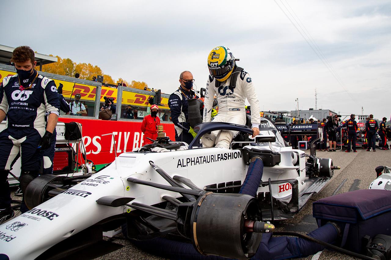 アルファタウリ・ホンダF1、ガスリーのラジエーター破損は「溶接の欠陥」 / F1エミリア・ロマーニャGP 決勝