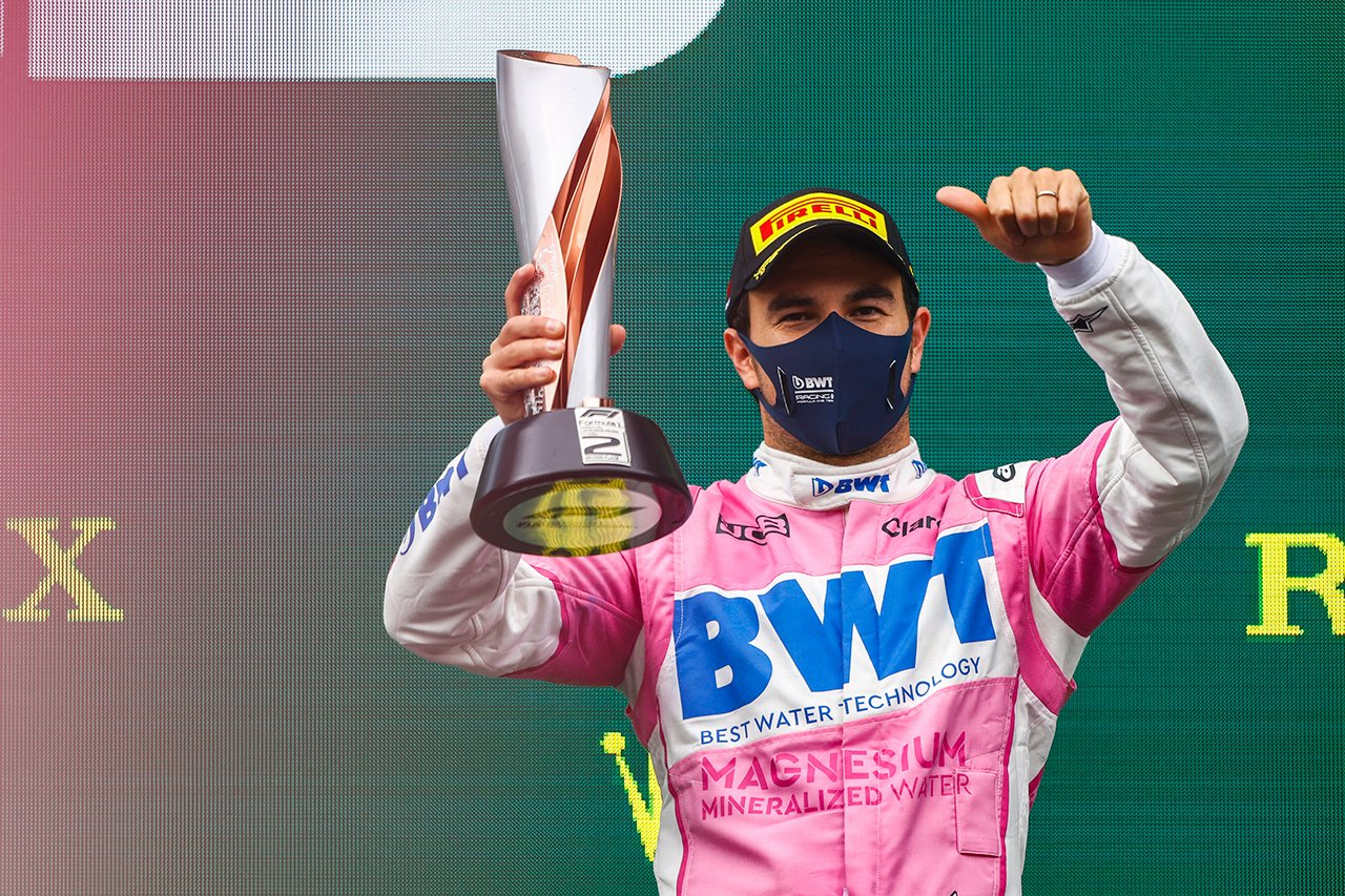 セルジオ・ペレス、2位表彰台「あと1周あったらタイヤは持たなかった」 / レーシング・ポイント F1トルコGP 決勝