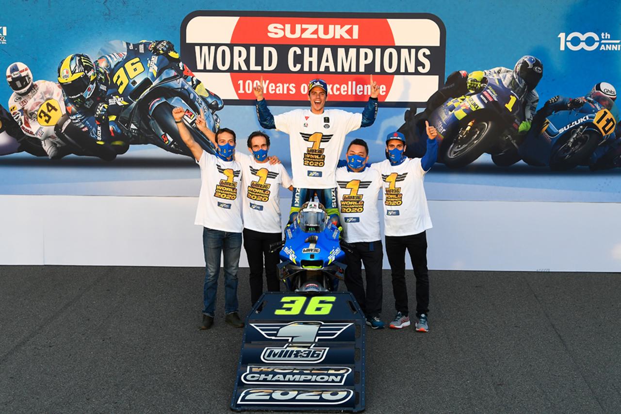 MotoGP:ジョアン・ミルが2020年シーズンのチャンピオン獲得!スズキのライダーとしては20年ぶり