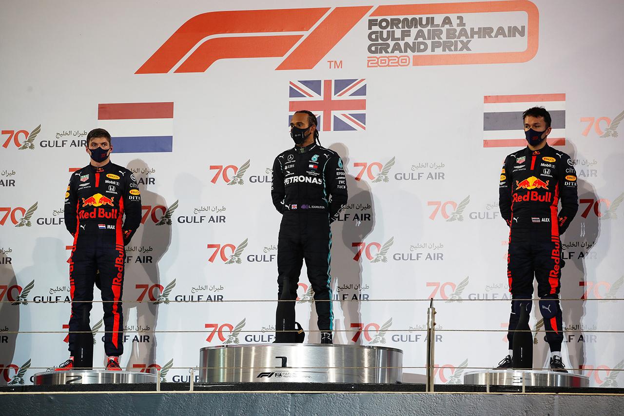 2020年 F1ポイントランキング (第15戦 F1バーレーンGP終了時点)