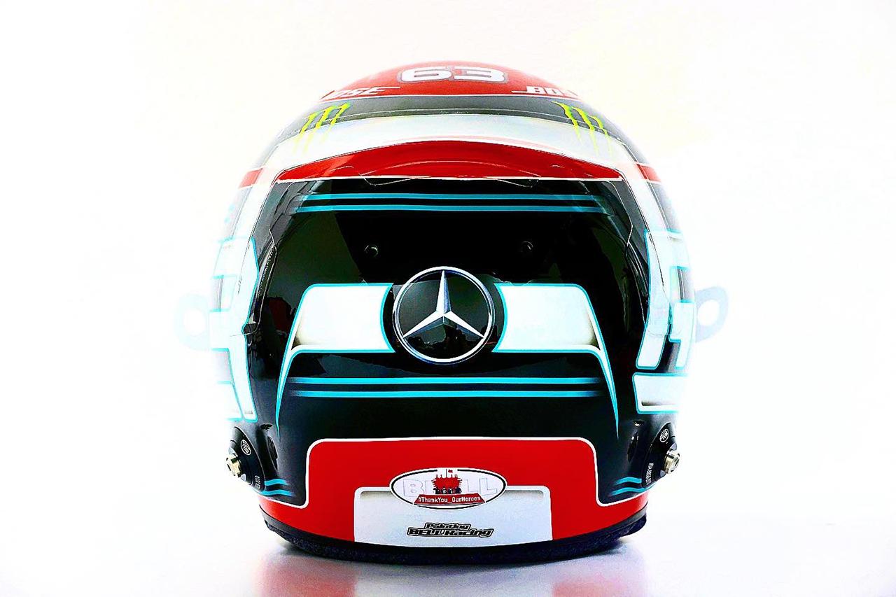 ジョージ・ラッセル F1サヒールGP ヘルメット(メルセデスF1)