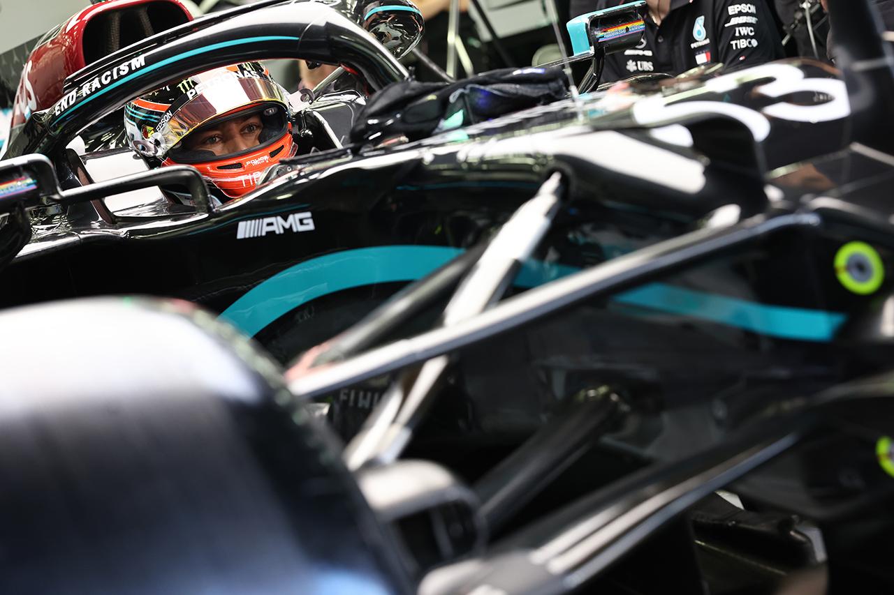 ジョージ・ラッセル 「予選ラップではボッタスの方が0.1秒速い」 / メルセデス F1サヒールGP 金曜フリー走行