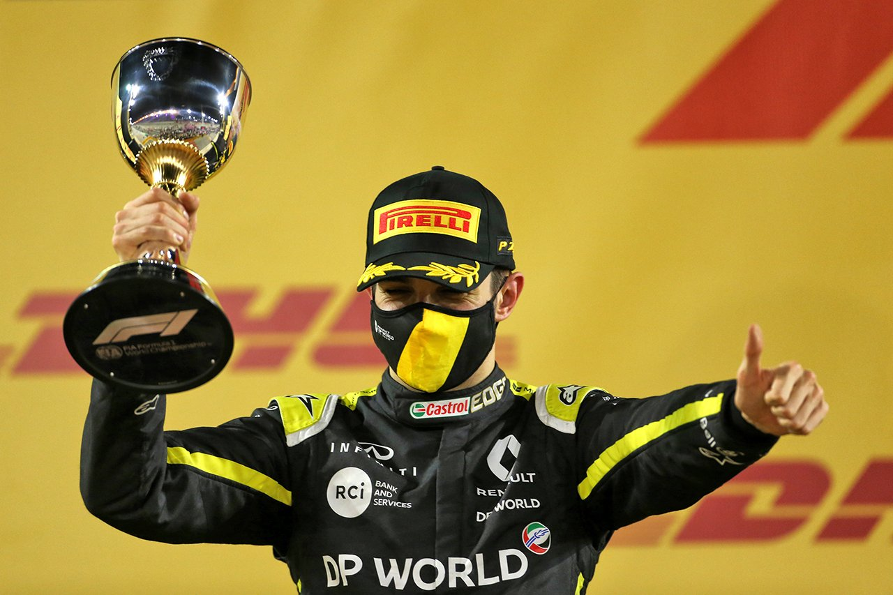 エステバン・オコン、F1初表彰台「泣いてしまった。永遠に忘れない」 / ルノー F1サヒールGP 決勝