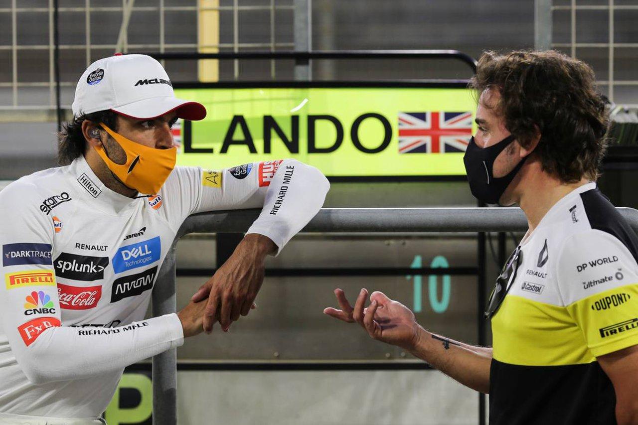 F1復帰のフェルナンド・アロンソ 「2021年にカルロス・サインツと表彰台に立ちたい」