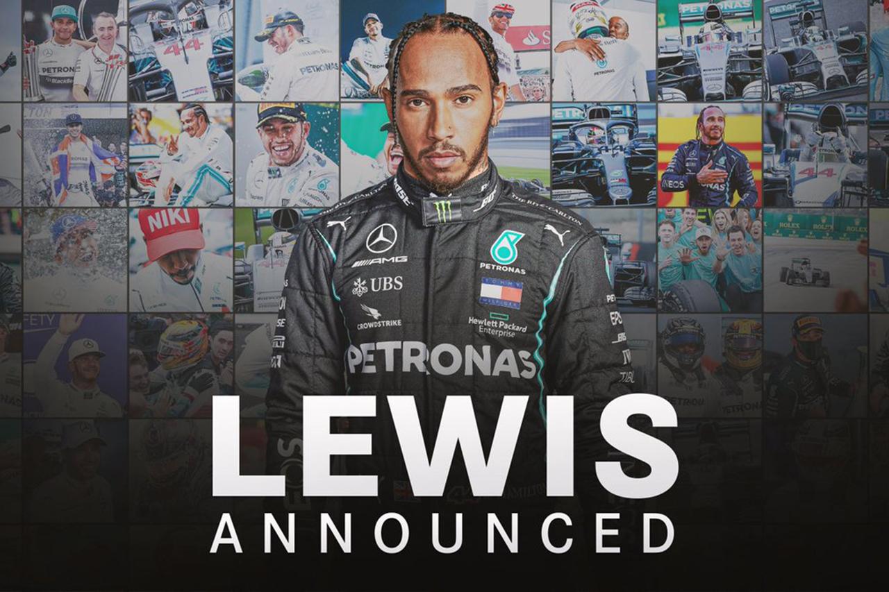 F1王者ルイス・ハミルトン、2021年のメルセデスF1残留が正式決定