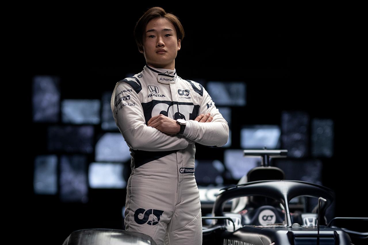 角田裕毅、最年少は意識せず 「フェルスタッペンは17歳でF1デビューした」
