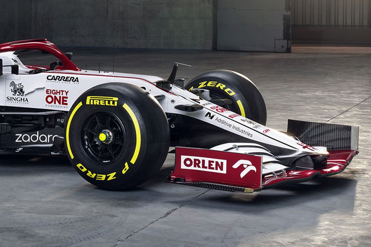 アルファロメオ C41:2つのトークンは新型ノーズとフロント周りに使用 / 2021年F1マシン