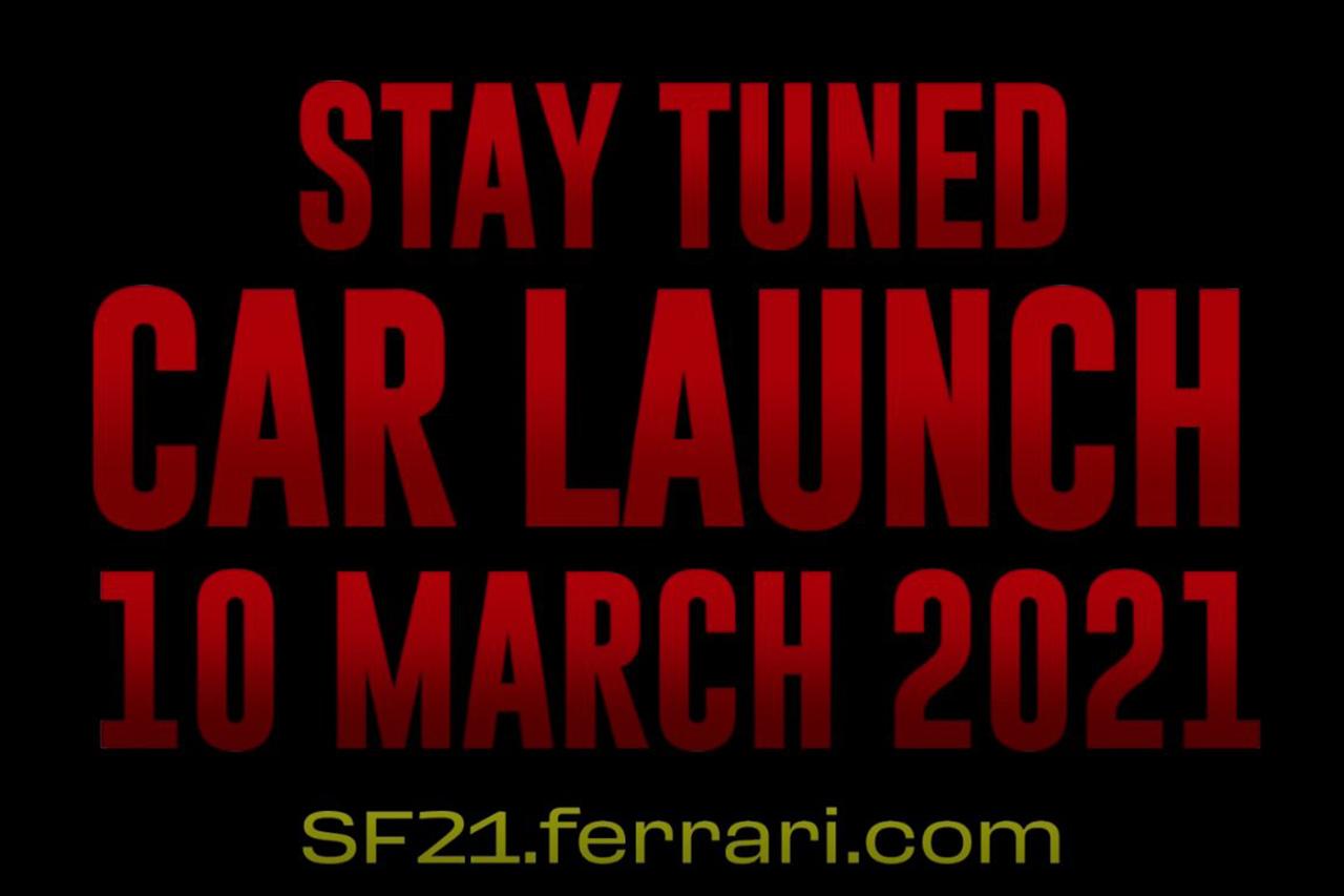 フェラーリF1、2021年F1マシン『SF21』の発表は3月10日までお預け