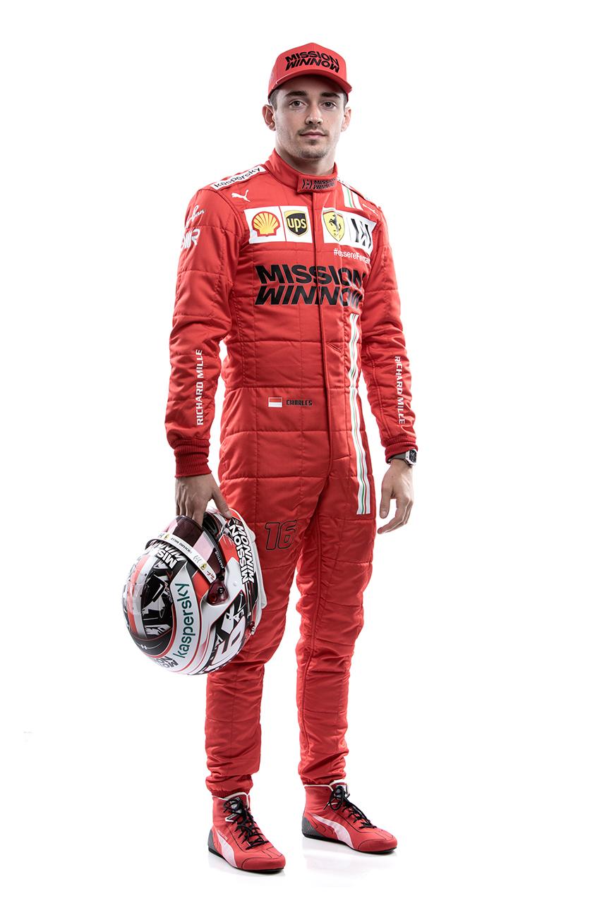 フェラーリ F1 2021年 レーシングスーツ:シャルル・ルクレール