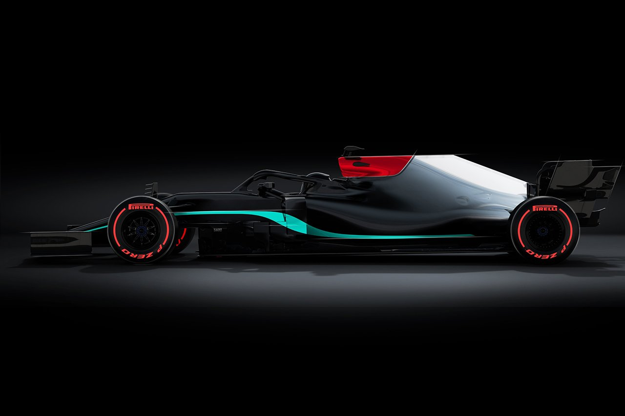 メルセデスF1、W12のブラック&シルバーのカラーリングをティザー公開 / 2021年F1マシン