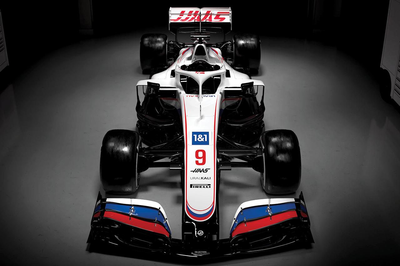 ハースF1、2021年F1マシン『VF-21』のカラーリングを発表…ウラルカリがタイトルスポンサーに就任