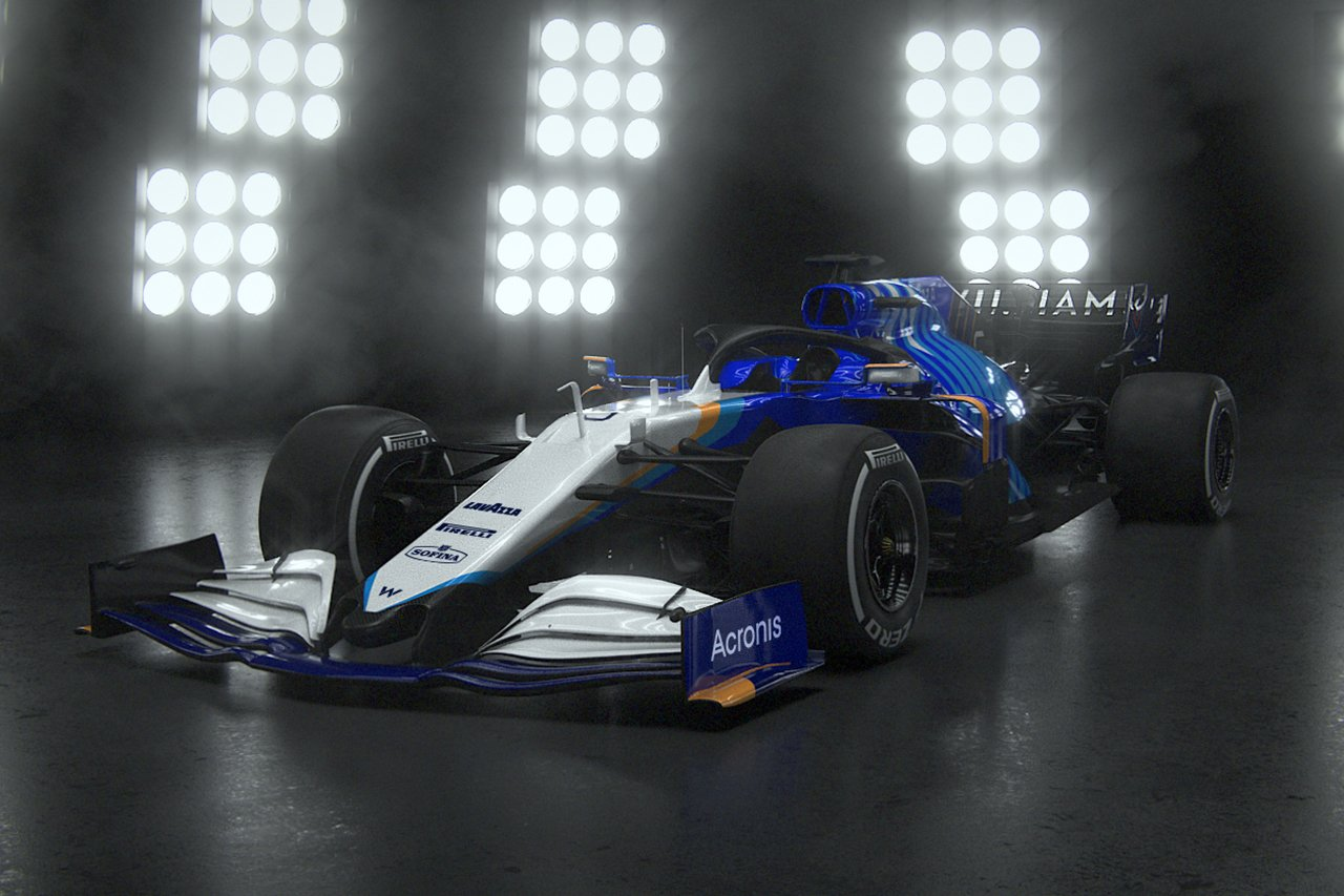 ウィリアムズF1、2021年F1マシン『FW43B』を発表…カラーリングを一新
