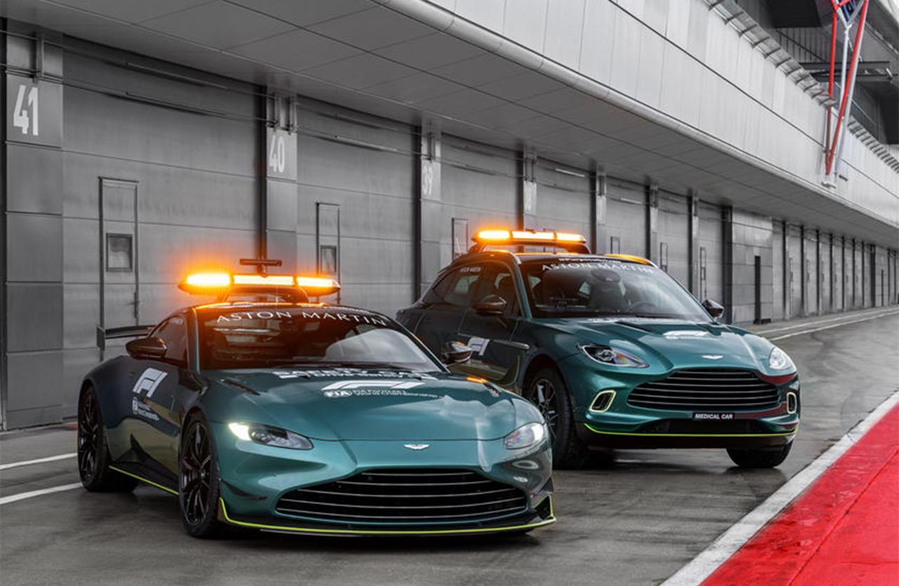 アストンマーティン F1 セーフティーカー ヴァンテージ&メディカルカー DBX