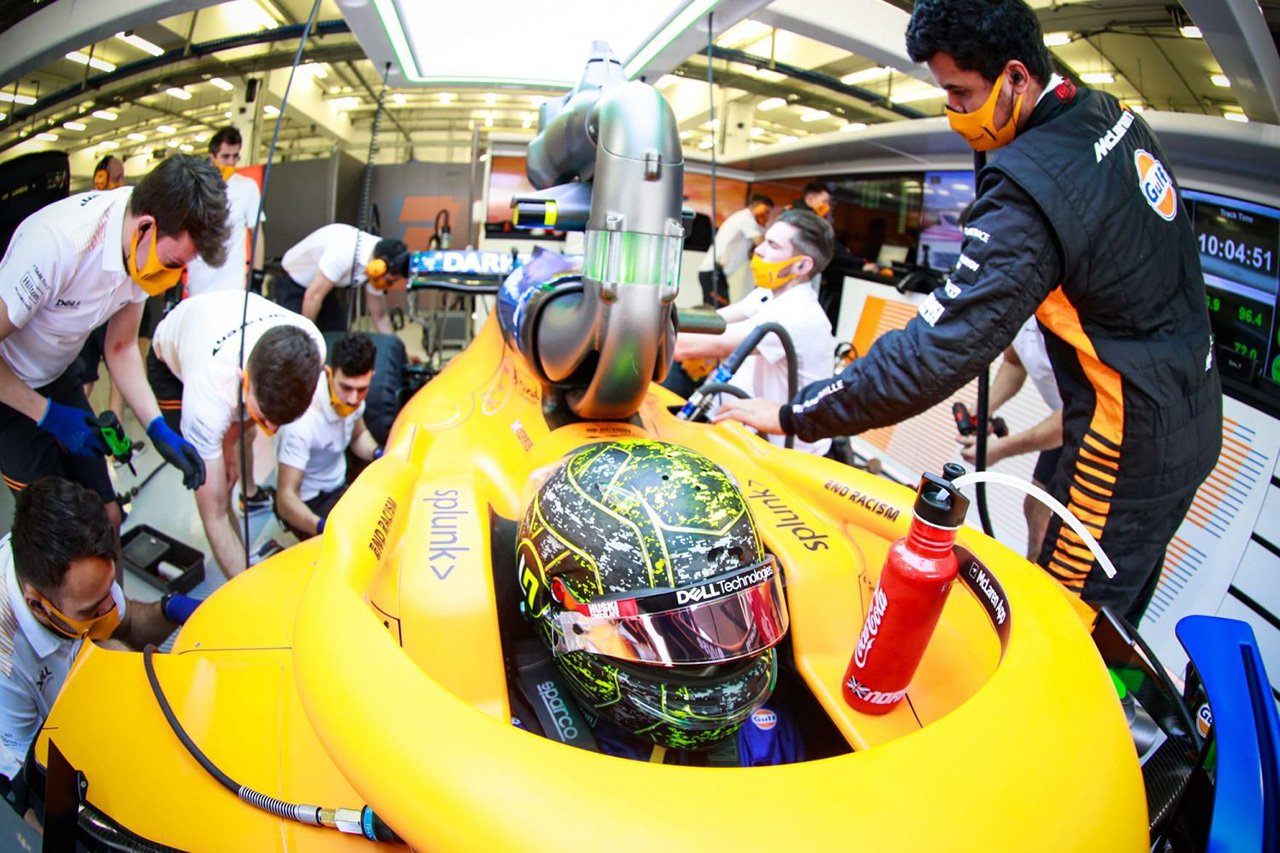 マクラーレンF1のランド・ノリス 「メルセデスのF1エンジンはいい感じ」