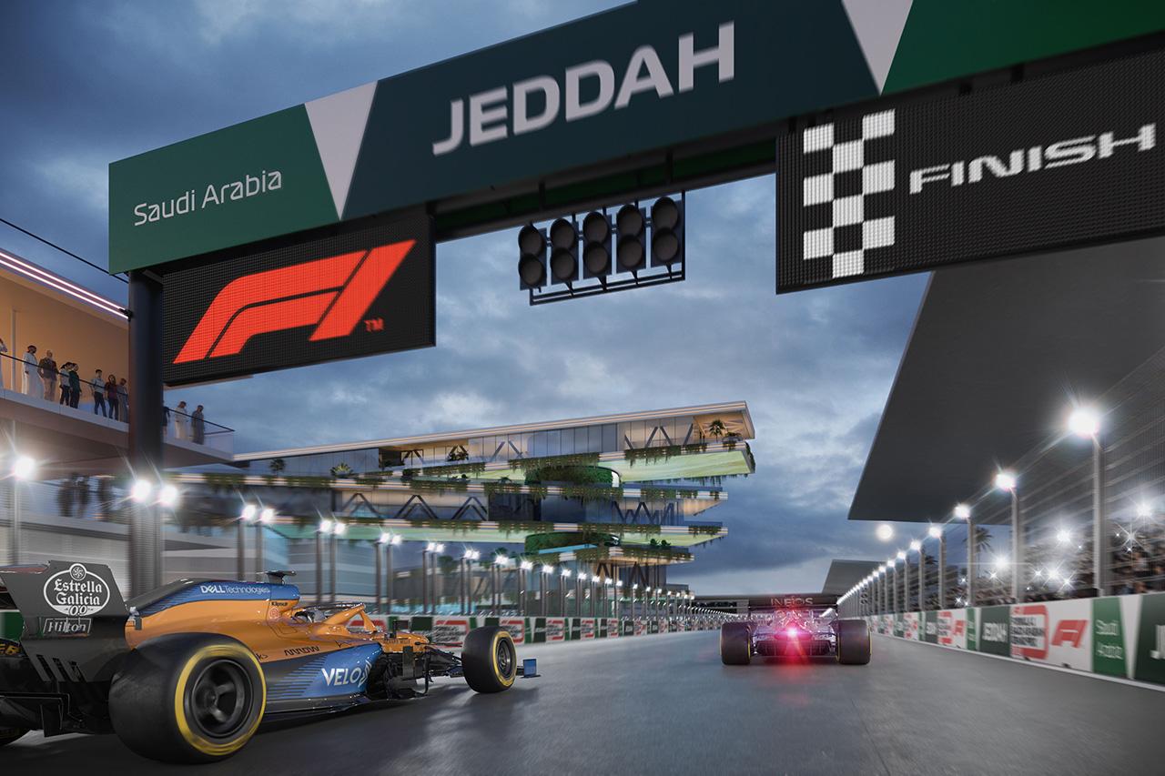 F1サウジアラビアGP:バーチャル・オンボード動画