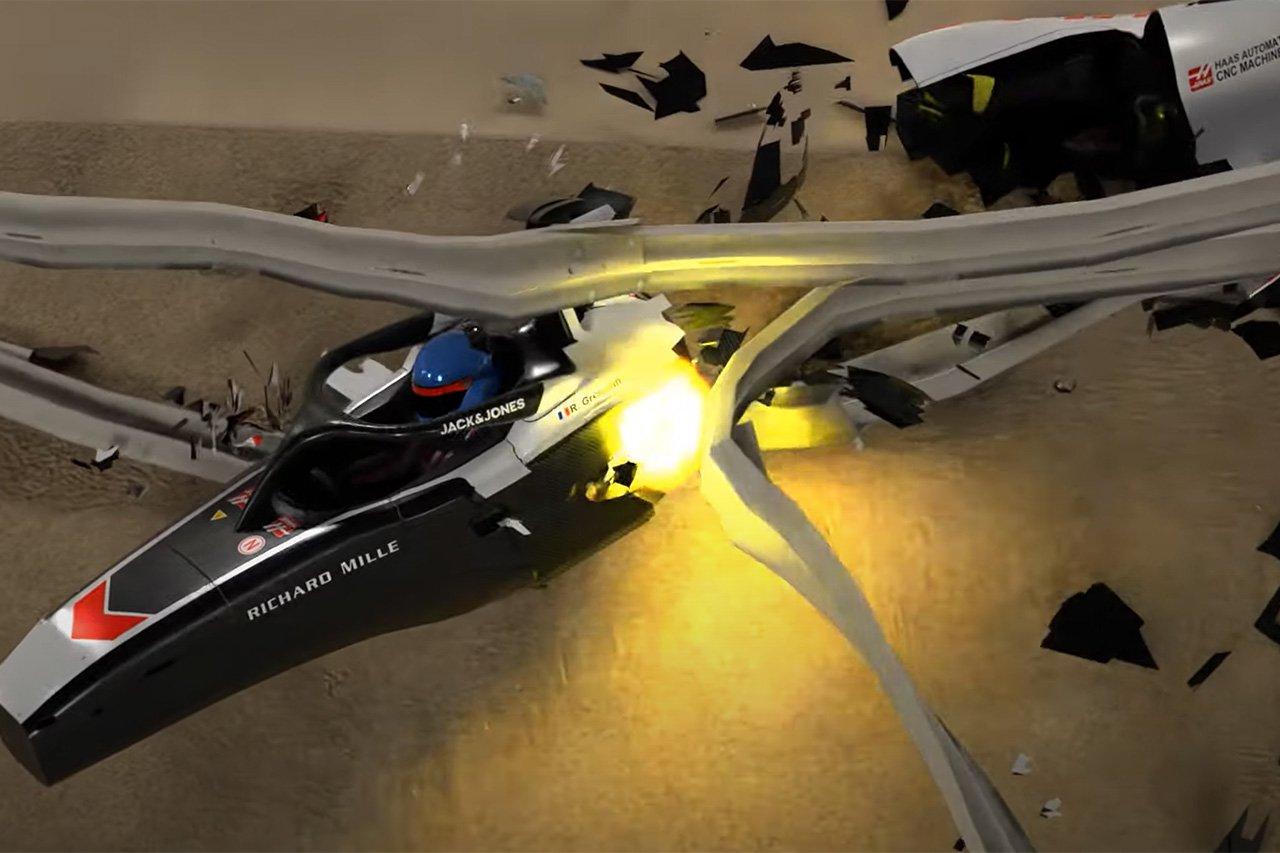F1:ロマン・グロージャンの大クラッシュを3Dアニメーションで再現