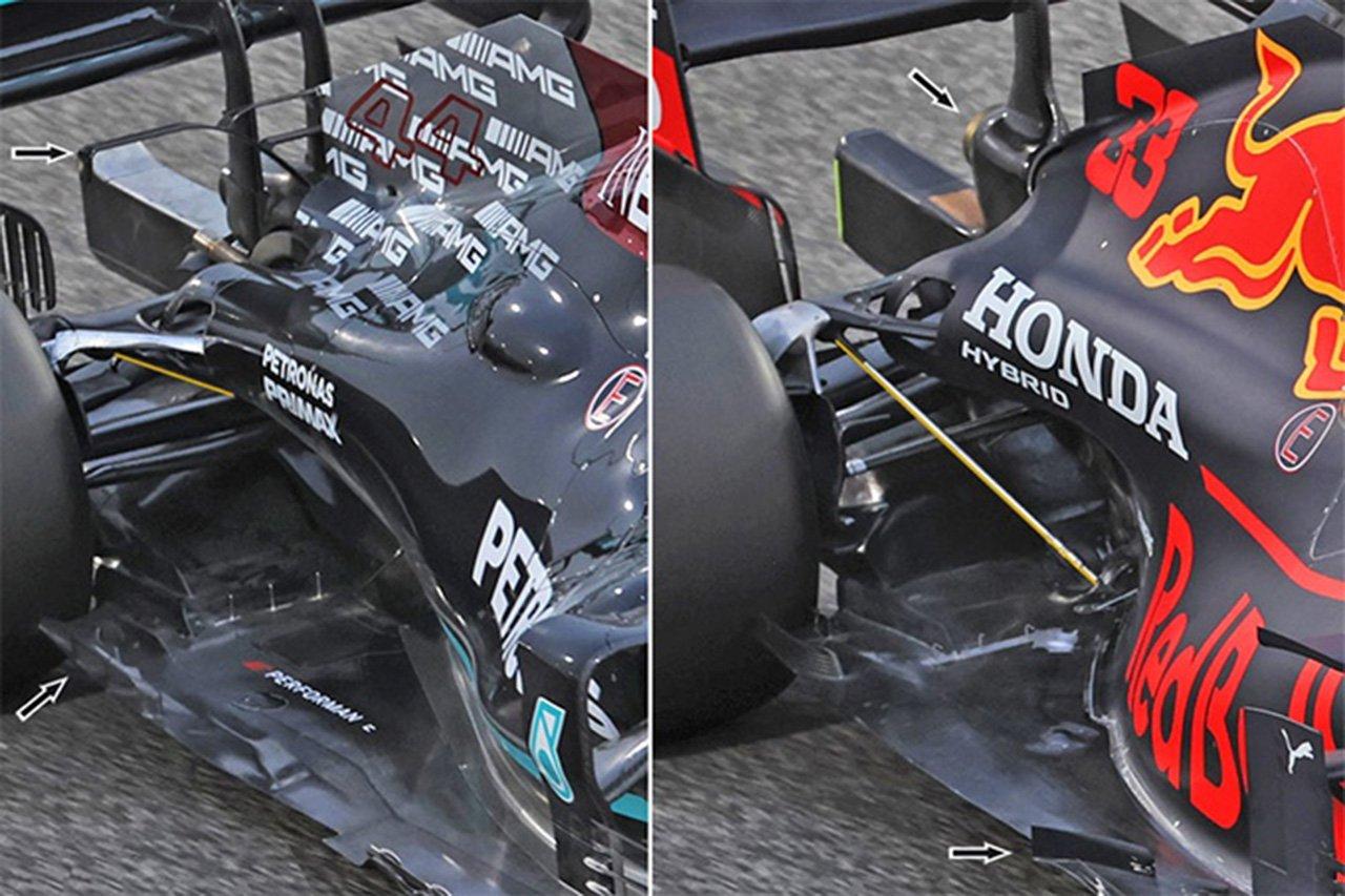 2021年F1マシン分析:メルセデス vs レッドブル リアエンド比較