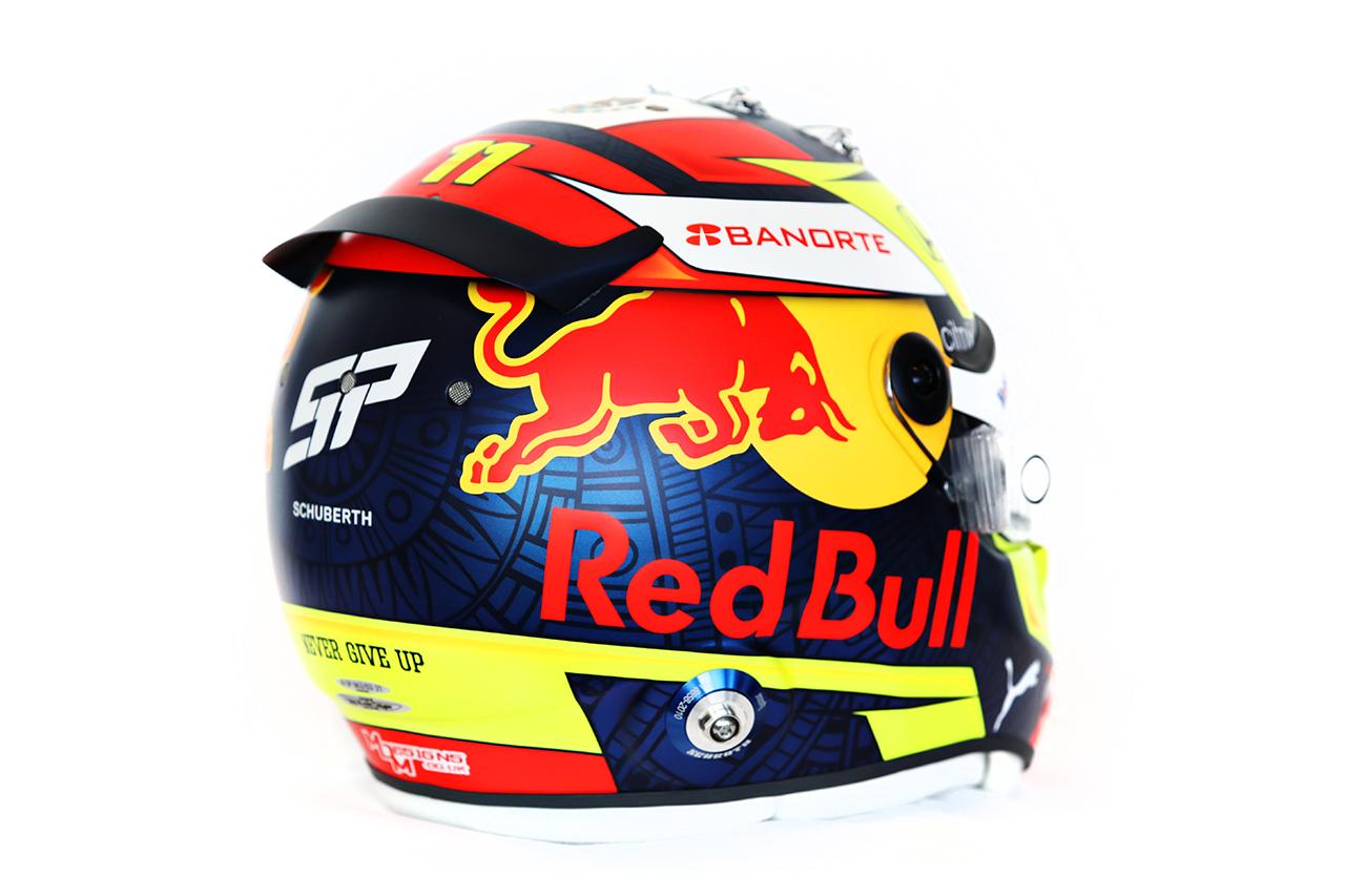セルジオ・ペレス 2021年 F1ヘルメット デザイン(レッドブル・ホンダF1)