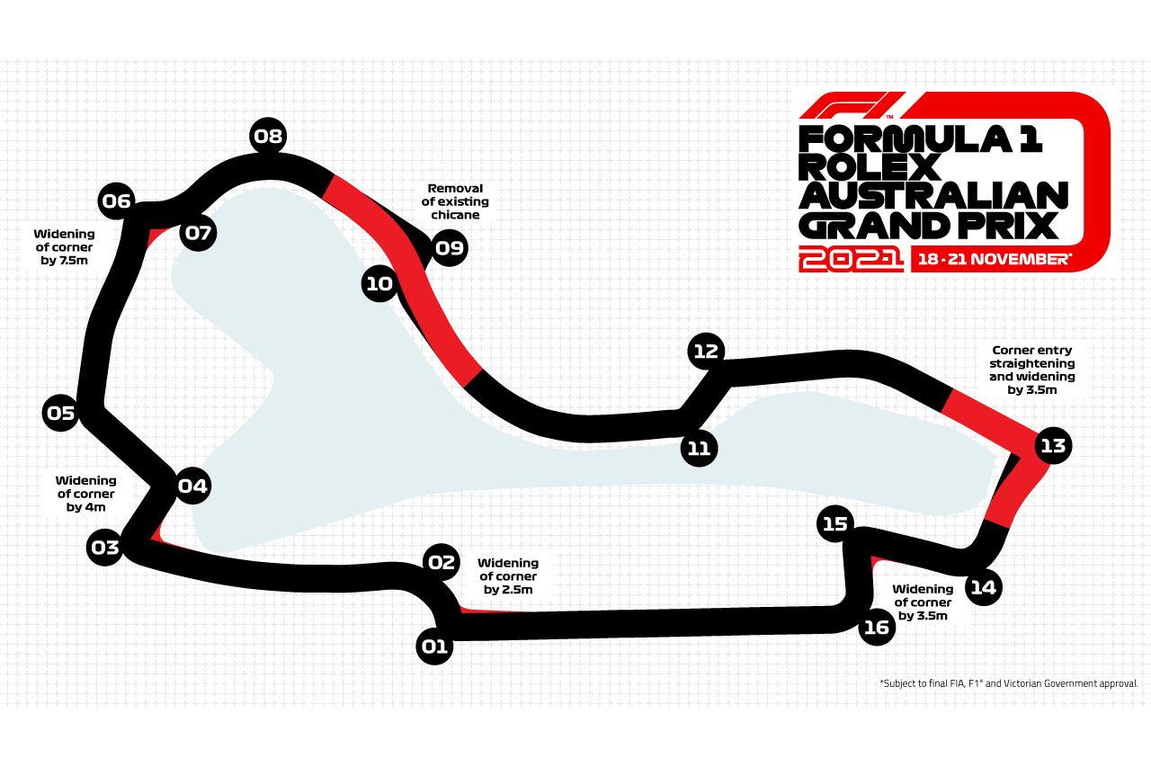 F1オーストラリアGP:アルバート・パークの新レイアウトで5秒高速化