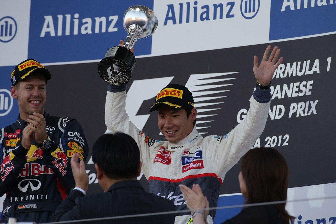 小林可夢偉 「F1日本GPの表彰台は優勝したベッテルに申し訳なく感じた」