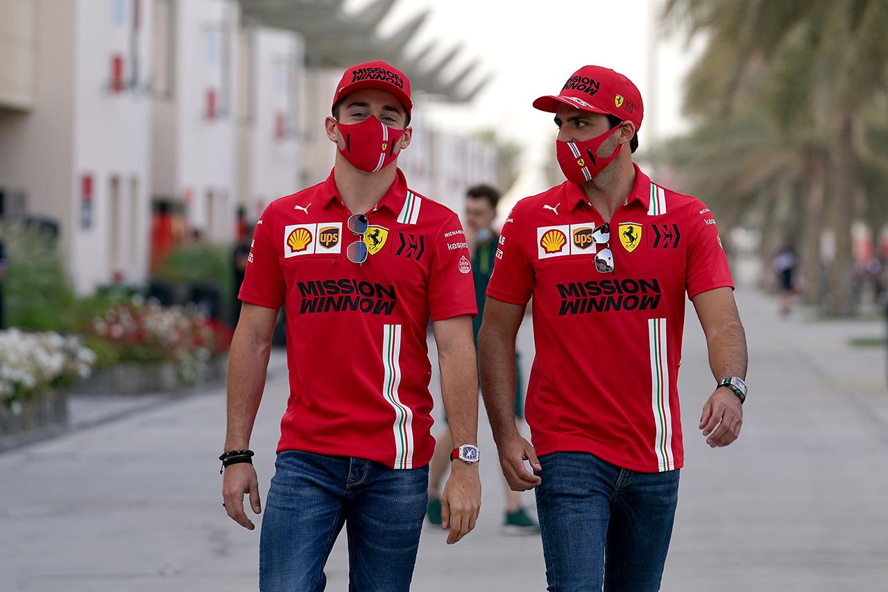 フェラーリF1のシャルル・ルクレール 「サインツとはベッテルより緊密な関係を築いている」