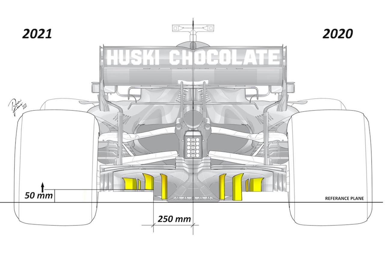 2021年 F1マシン ディフューザー