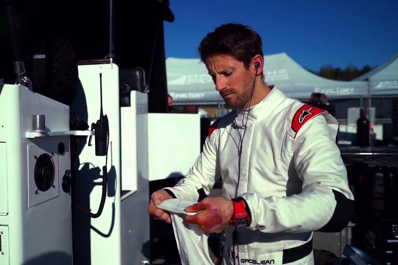 元ハースF1のロマン・グロージャン 「事故後もモータースポーツを辞めることは考えなかった」