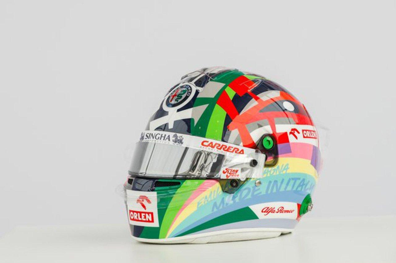 アントニオ・ジョビナッツィ 2021年 F1エミリア・ロマーニャGP ヘルメット