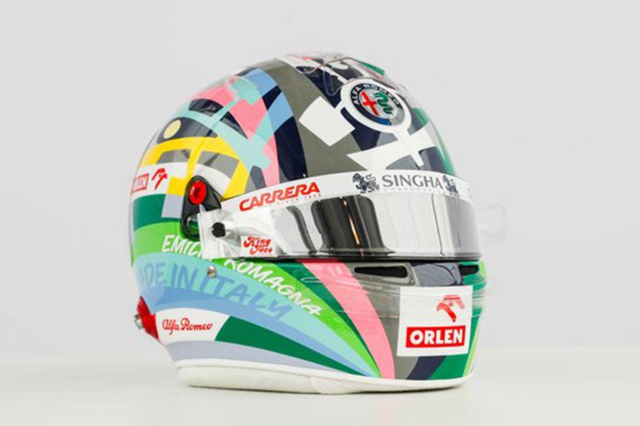アントニオ・ジョビナッツィ、イモラ仕様スペシャルヘルメット / アルファロメオ F1エミリア・ロマーニャGP