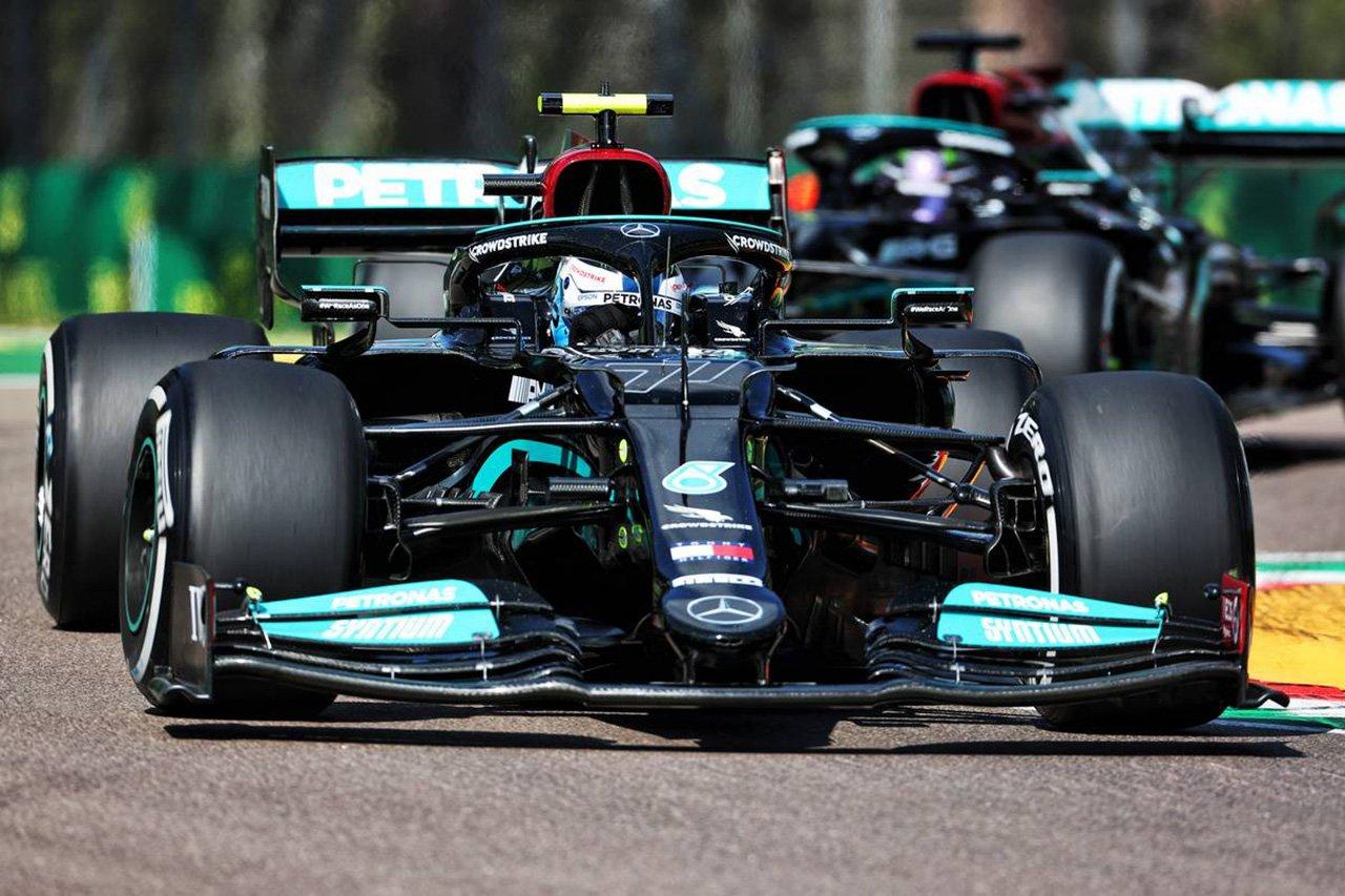 F1エミリア・ロマーニャGP フリー走行2回目:メルセデスF1がワンツー。アルファタウリ・ホンダF1のガスリーが3番手