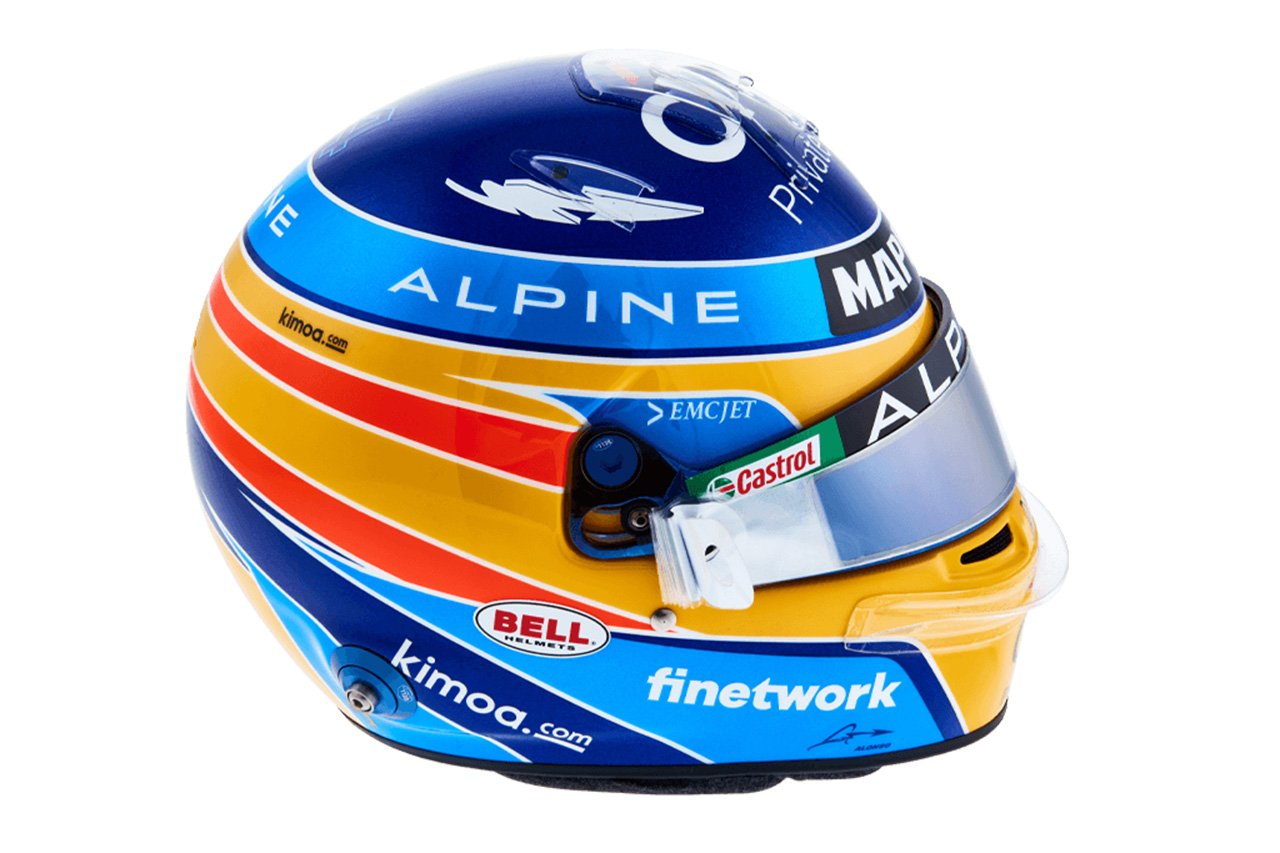 フェルナンド・アロンソ:2021年 F1ヘルメット