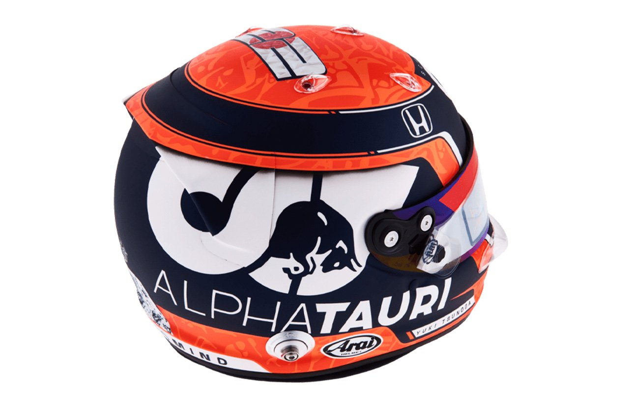 角田裕毅:2021年 F1ヘルメット