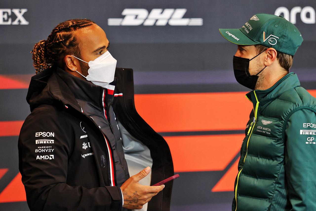 メルセデスF1のルイス・ハミルトン 「ベッテルとのライバル関係がキャリアのお気に入り」 / F1エミリア・ロマーニャGP 木曜記者会見