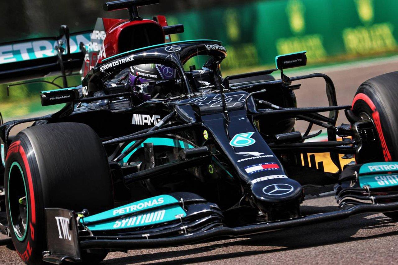 F1エミリア・ロマーニャGP 予選:ルイス・ハミルトンが99回目のPP獲得。ペレス2番&フェルスタッペン3番手とレッドブル・ホンダF1勢が続く