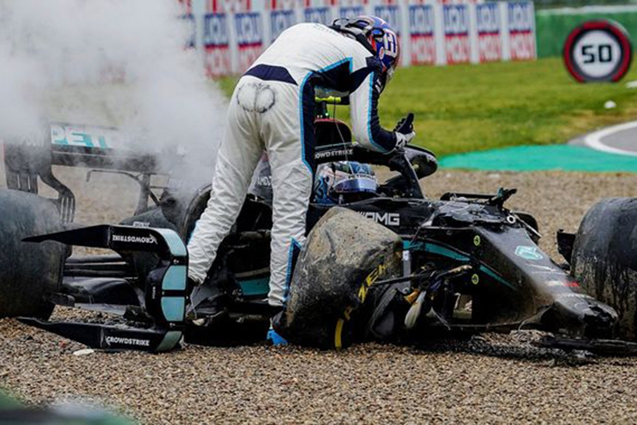 メルセデスF1代表 「ジョージ・ラッセルは学ぶべきことがたくさんある」 / F1エミリア・ロマーニャGP 決勝