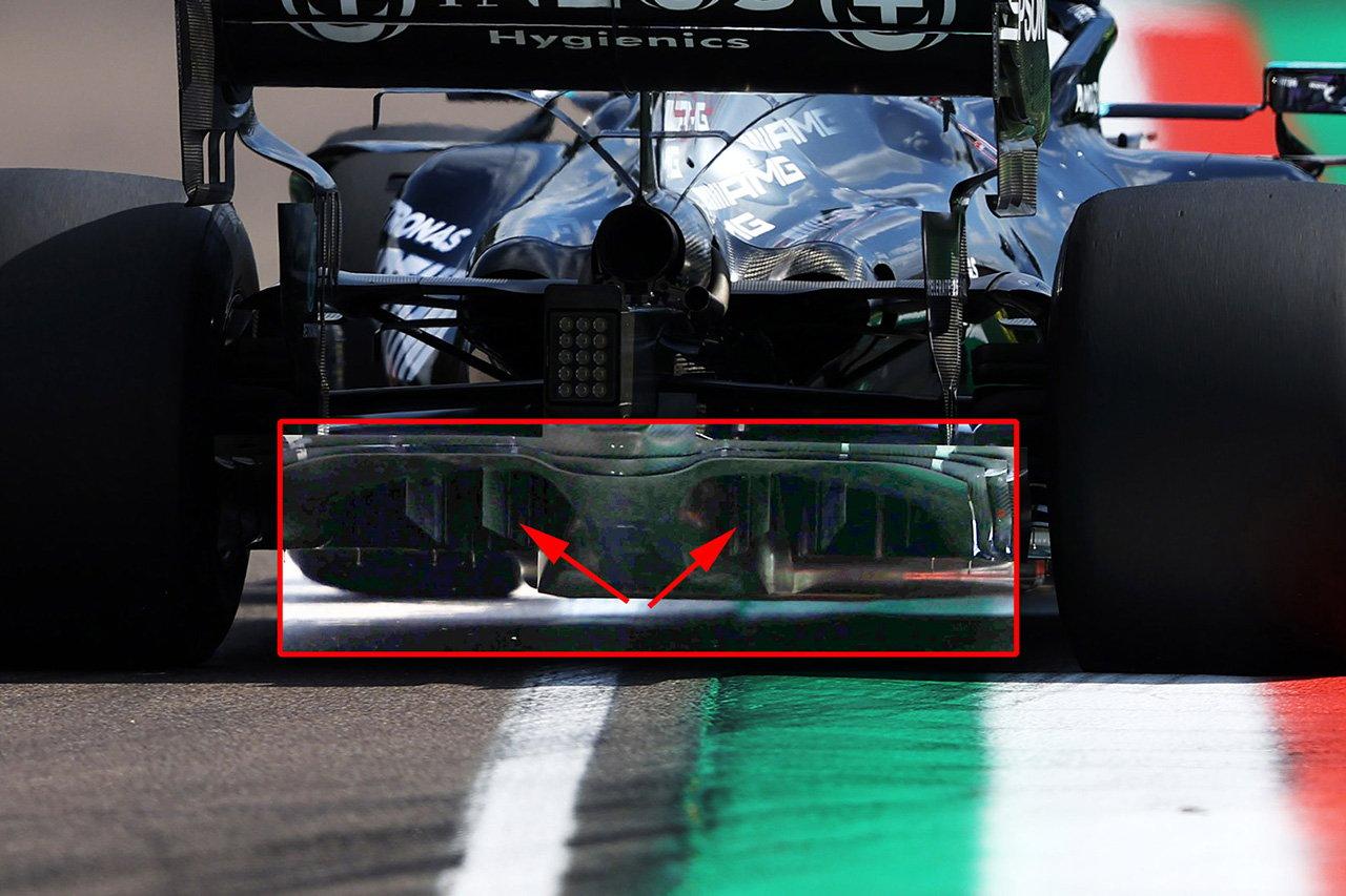 F1マシン分析:メルセデスF1、新型ディフューザーで競争力を回復 / F1エミリア・ロマーニャGP