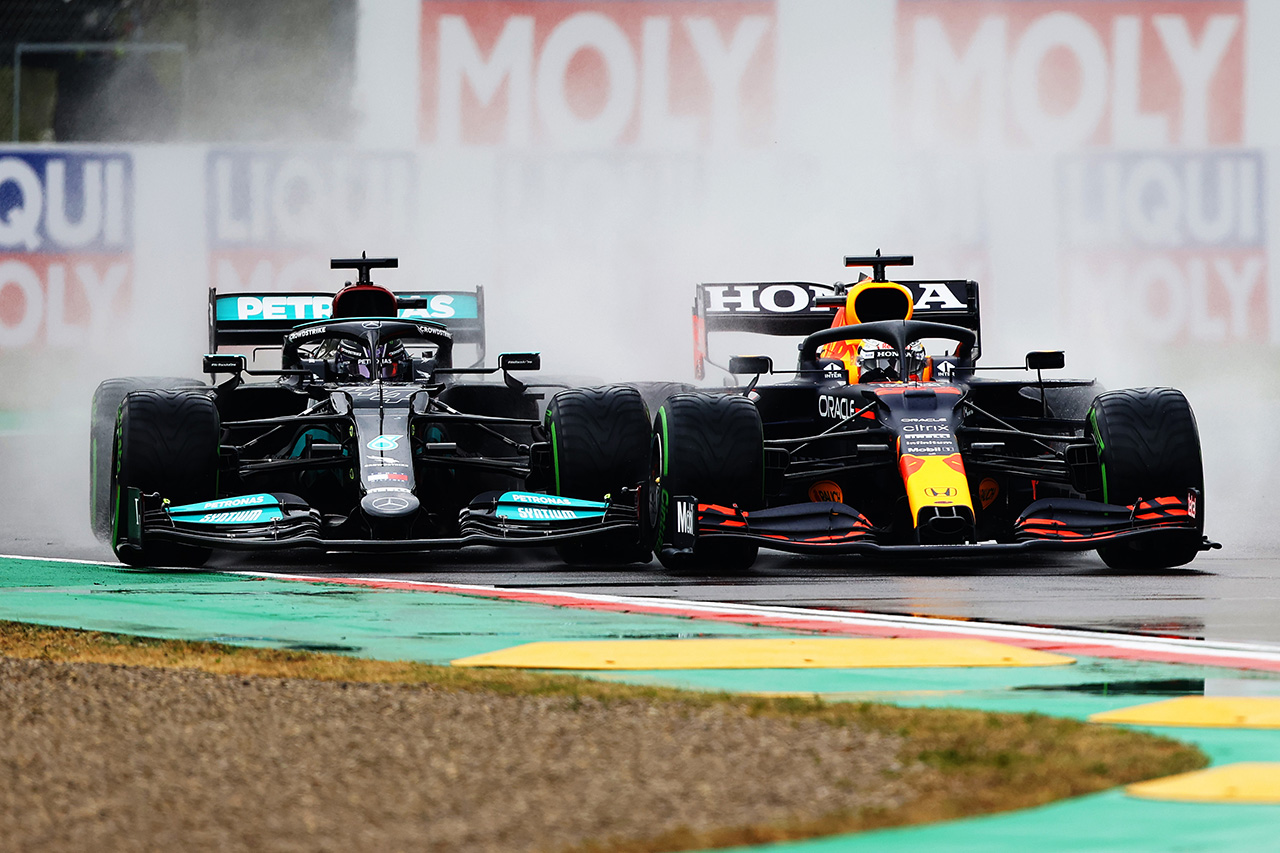 レッドブル・ホンダF1のマックス・フェルスタッペン、抜群のスタートに「自分でも驚いた」 / F1エミリア・ロマーニャGP