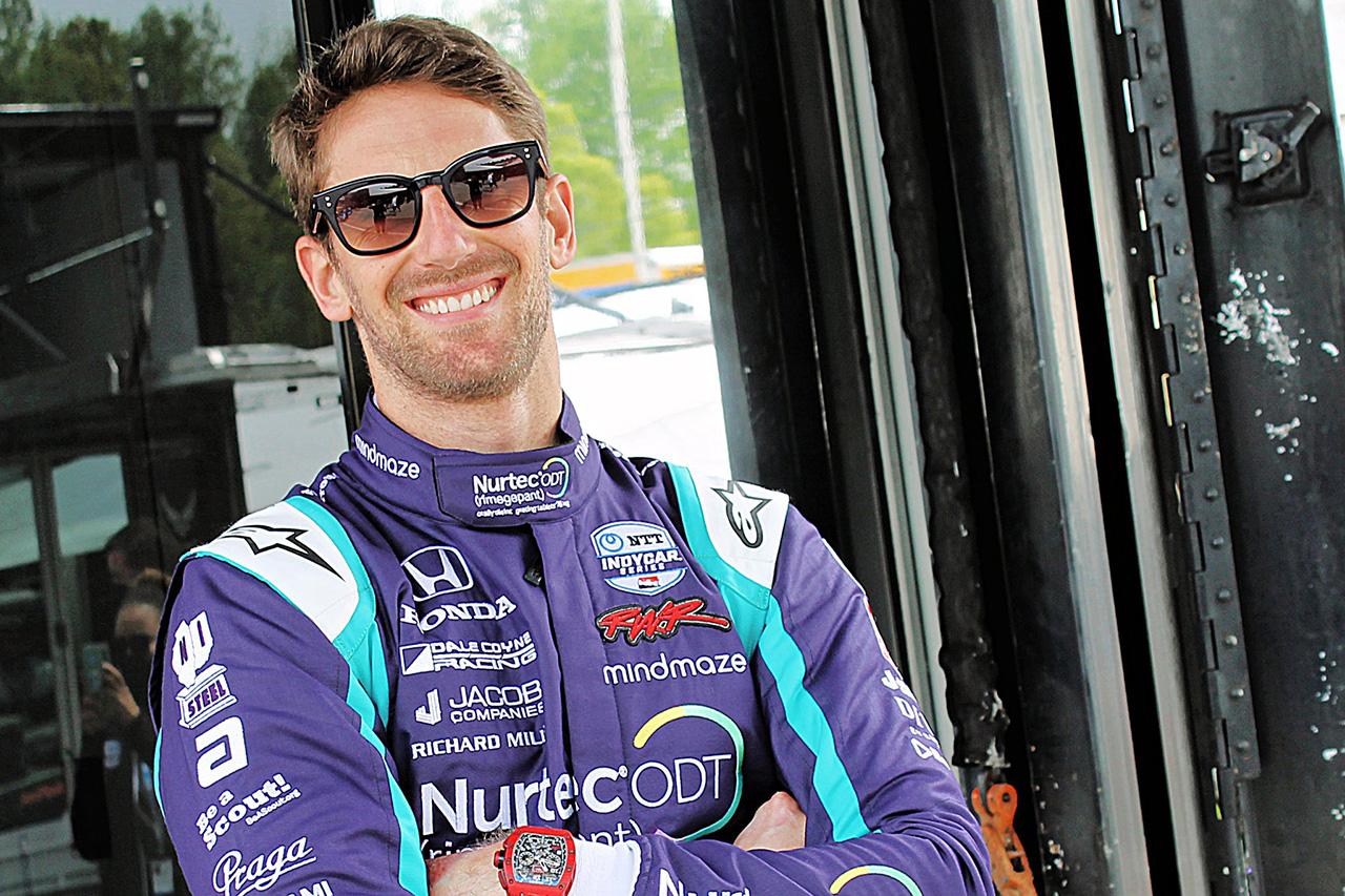 元F1ドライバーのロマン・グロージャン 「インディカーのローリングスタートの練習が必要」