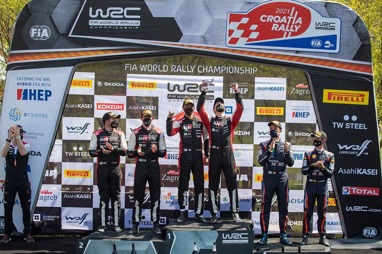 トヨタ:WRC 第3戦 クロアチア・ラリー デイ3 レポート / オジエが優勝してドライバー選手権首位に返り咲く